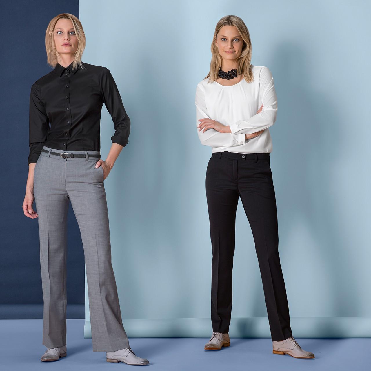Damen Hose Normale Leibhöhe Modern Regular Fit Greiff® | bedrucken, besticken, bedrucken lassen, besticken lassen, mit Logo |