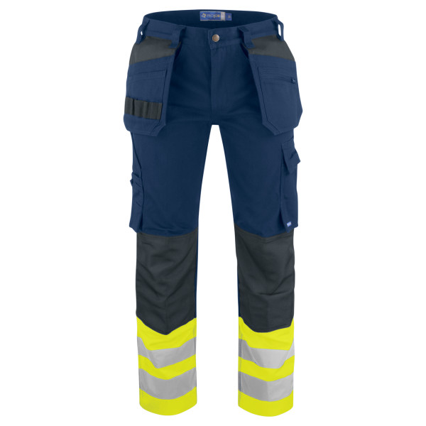 Warning protection Work trousers with holster pockets EN ISO 20471 Class 1 Projob®.