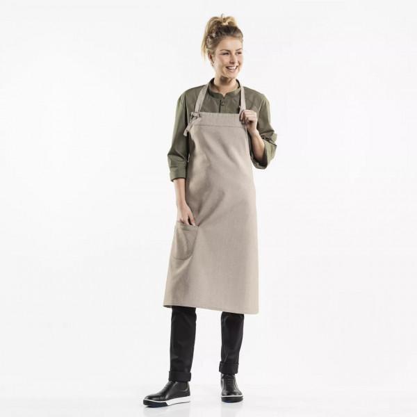 Bib apron Bujutsu with pocket Chaud Devant®