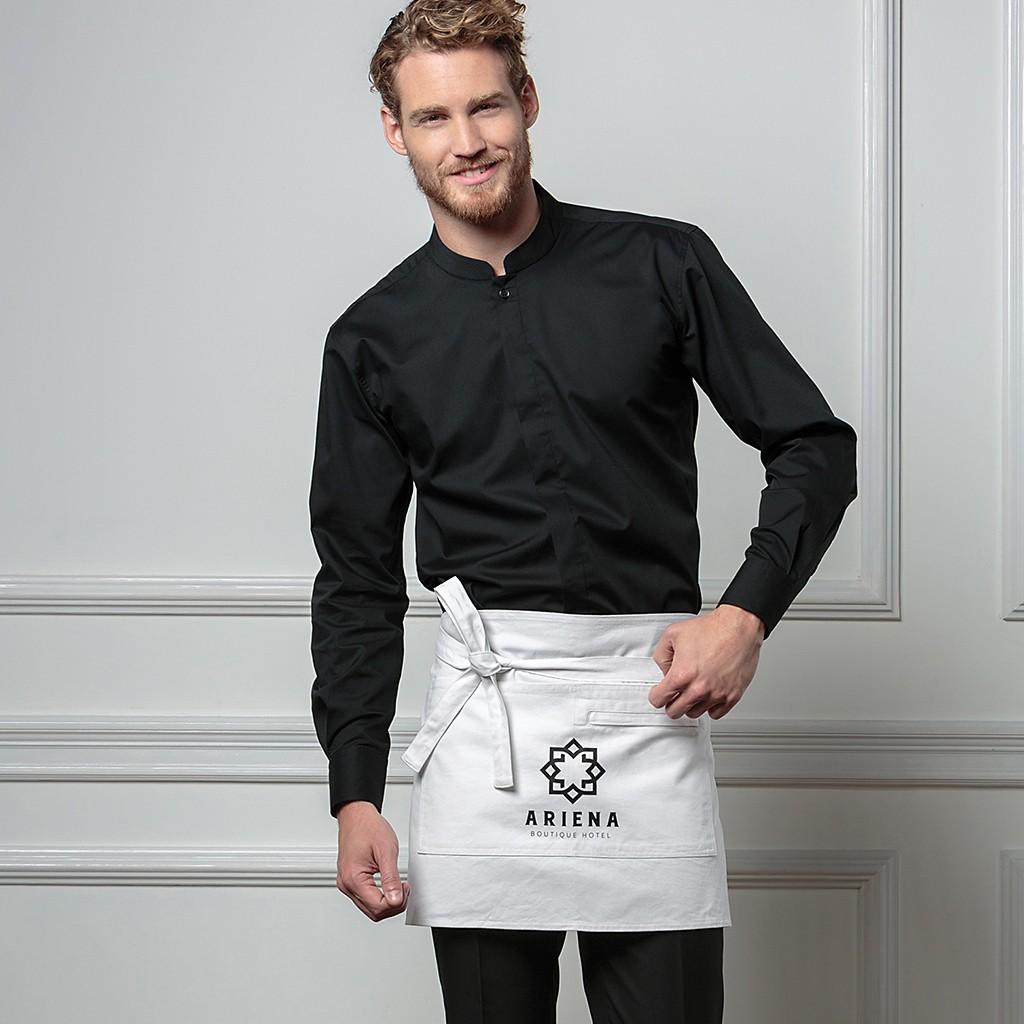 Stretchhemd Langarm Asia-Kragen Tailored Fit Bargear®   bedrucken, besticken, bedrucken lassen, besticken lassen, mit Logo  