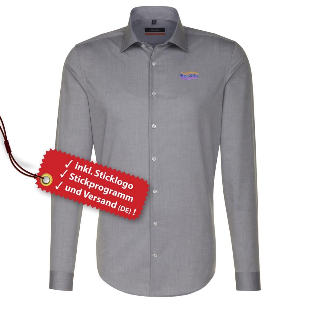 4a35d163bcd8c Slim Fit Hemd inkl. Logo bestickt Seidensticker®