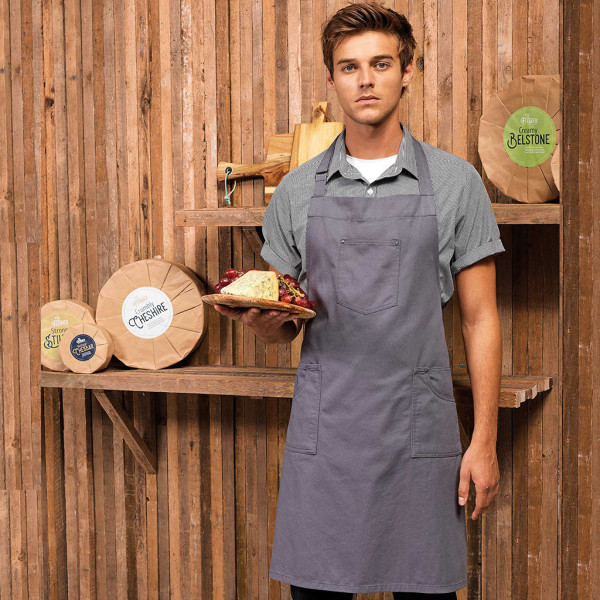 Bib and brace apron made of cotton with Chino elements Premier®