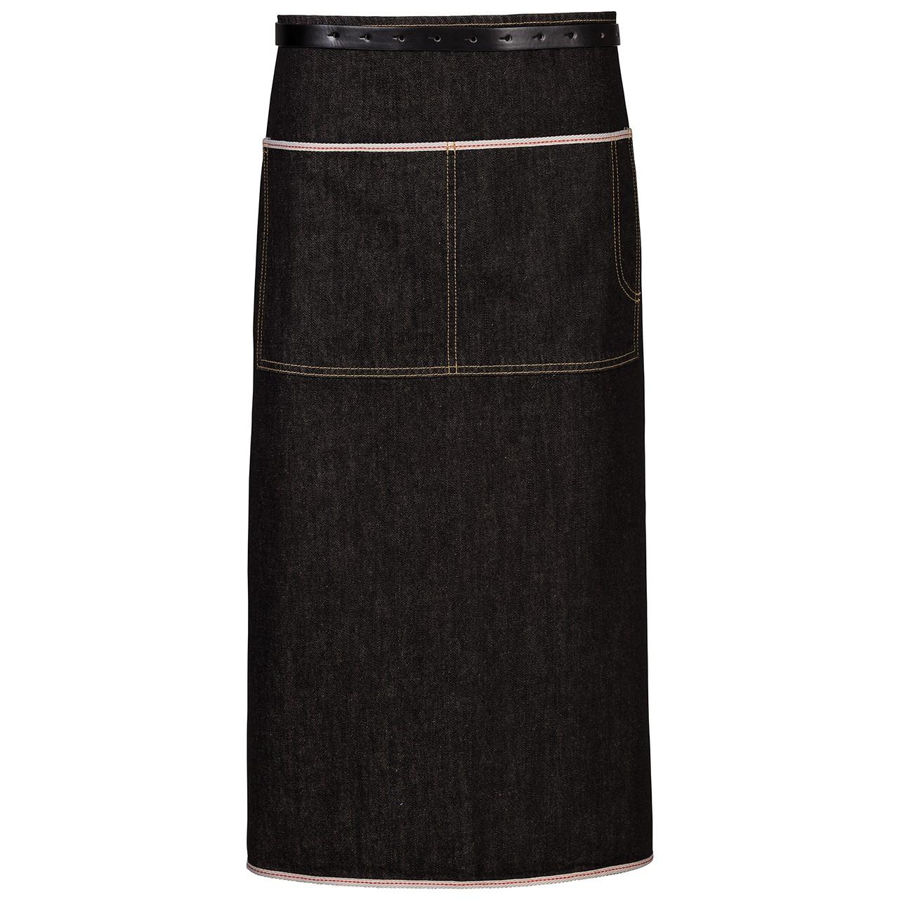 Kellnerschürze im Jeanslook mit Paspel Exner® | bedrucken, besticken, bedrucken lassen, besticken lassen, mit Logo |