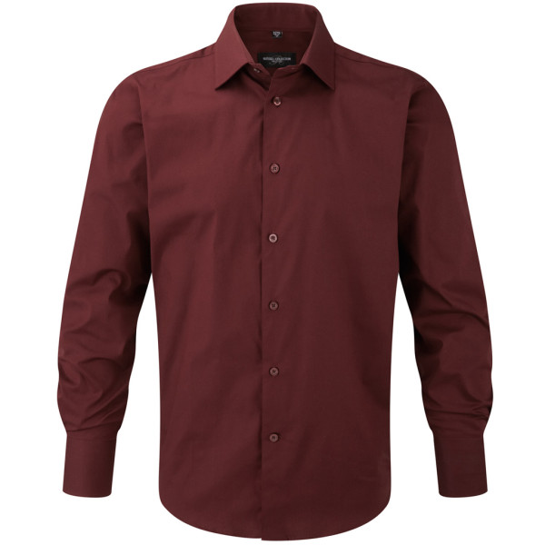 Shirt Long Sleeve Stretch Slim Fit Russell®