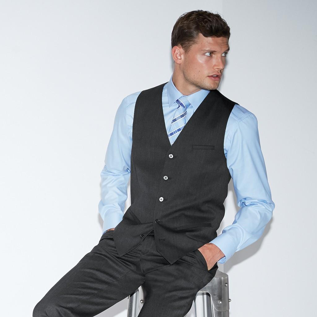 Herren Weste Modern Slim Fit Greiff® | bedrucken, besticken, bedrucken lassen, besticken lassen, mit Logo |