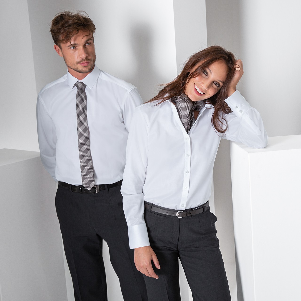 Herren-Hemd 1/1 CF Premium Weiss Greiff® | bedrucken, besticken, bedrucken lassen, besticken lassen, mit Logo |