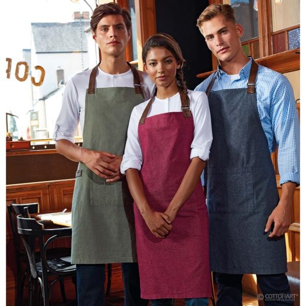 Unisex bib apron Annex made of Oxford fabric Premier®.