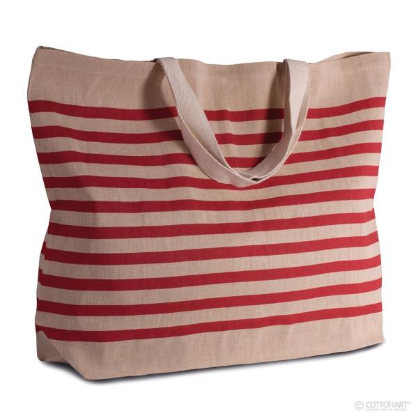 Großer Shopper aus Jute-Baumwolle KiMood®