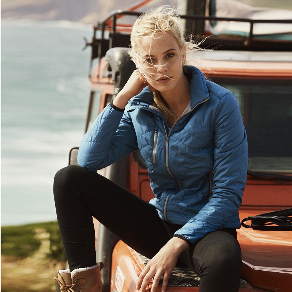 Damen Steppjacke Deer Ridge James Harvest® | bedrucken, besticken, bedrucken lassen, besticken lassen, mit Logo |