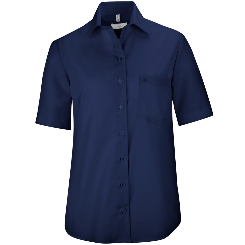 Bluse Kurzarm Comfort Fit Greiff® | bedrucken, besticken, bedrucken lassen, besticken lassen, mit Logo |
