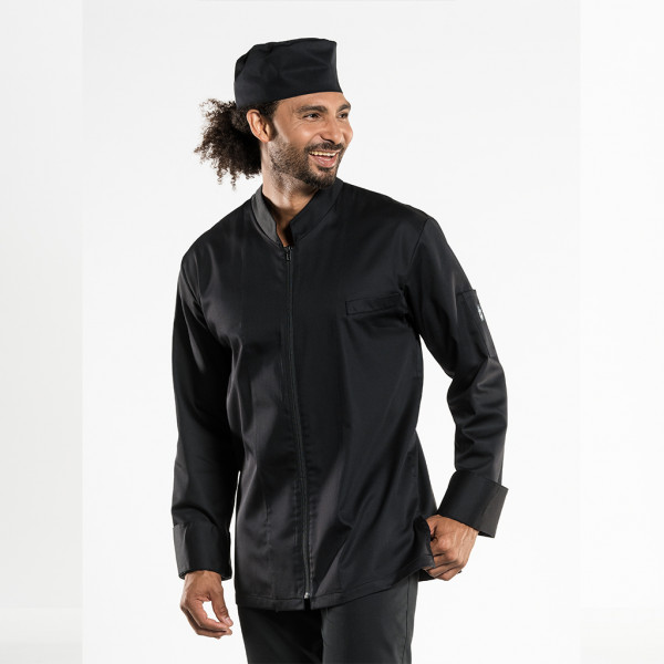 Cooking jacket Monza Black Chaud Devant®