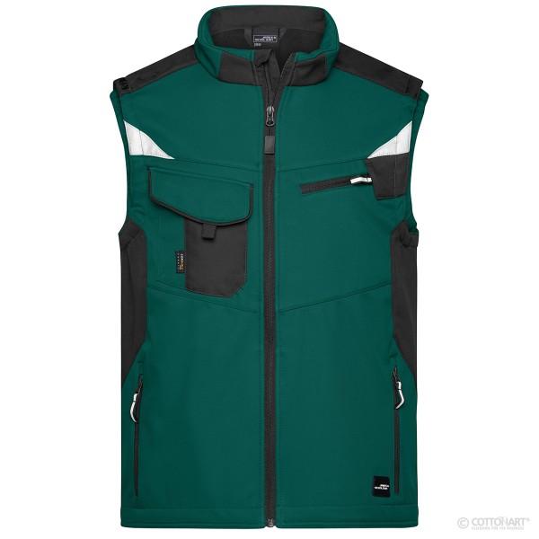 Unisex Workwear Softshell Weste Strong James & Nicholson®