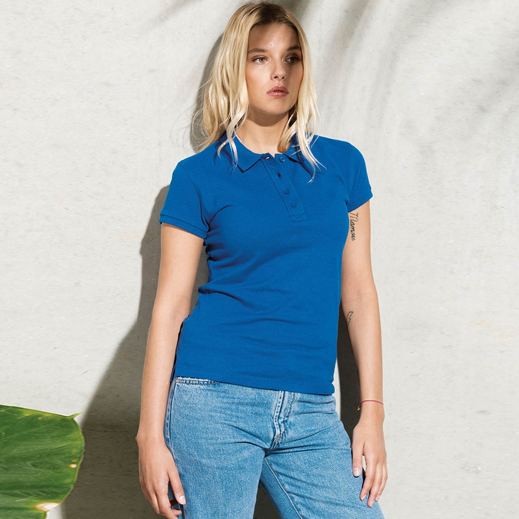 Damen Poloshirt Bio-Baumwolle | bedrucken, besticken, bedrucken lassen, besticken lassen, mit Logo |