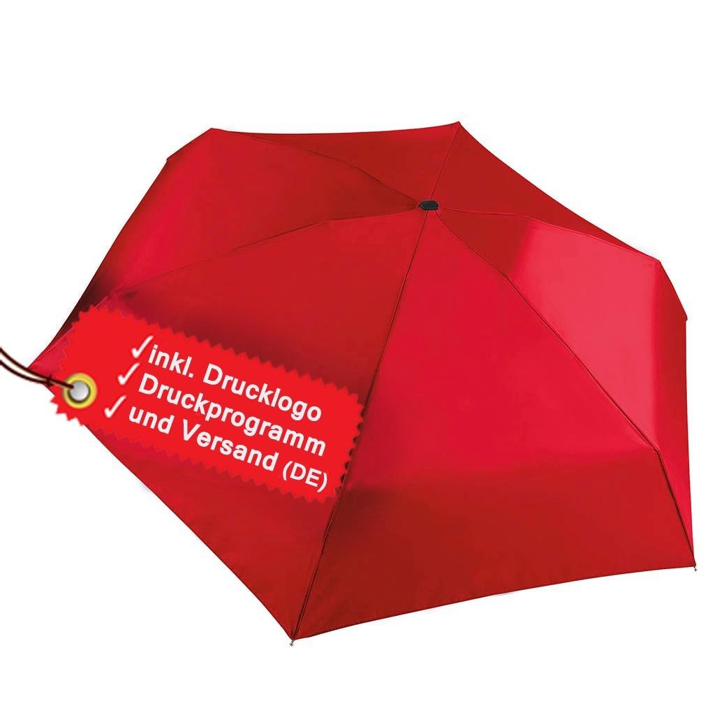 Kleiner Taschenschirm bedrucken lassen inkl. Logo KiMood® | bedrucken, besticken, bedrucken lassen, besticken lassen, mit Logo |
