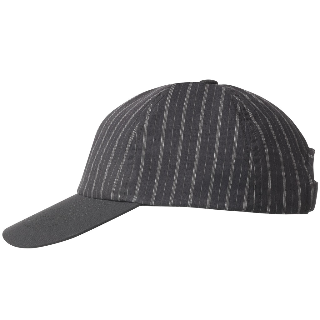 Cap anthrazit gestreift Greiff®   bedrucken, besticken, bedrucken lassen, besticken lassen, mit Logo  