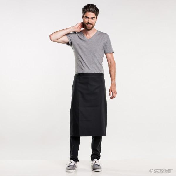 Bistro apron short 70 Santino Black Chaud Devant®