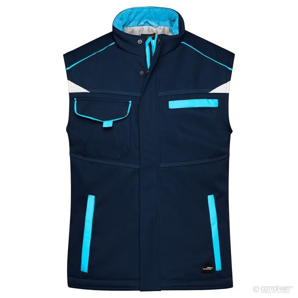 Unisex Winter Workwear Softshell Weste James & Nicholson®