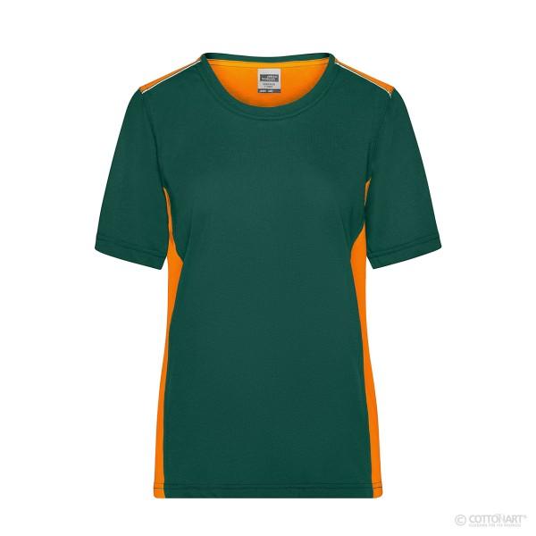 Damen Workwear T-Shirt Kontrast James & Nicholson®