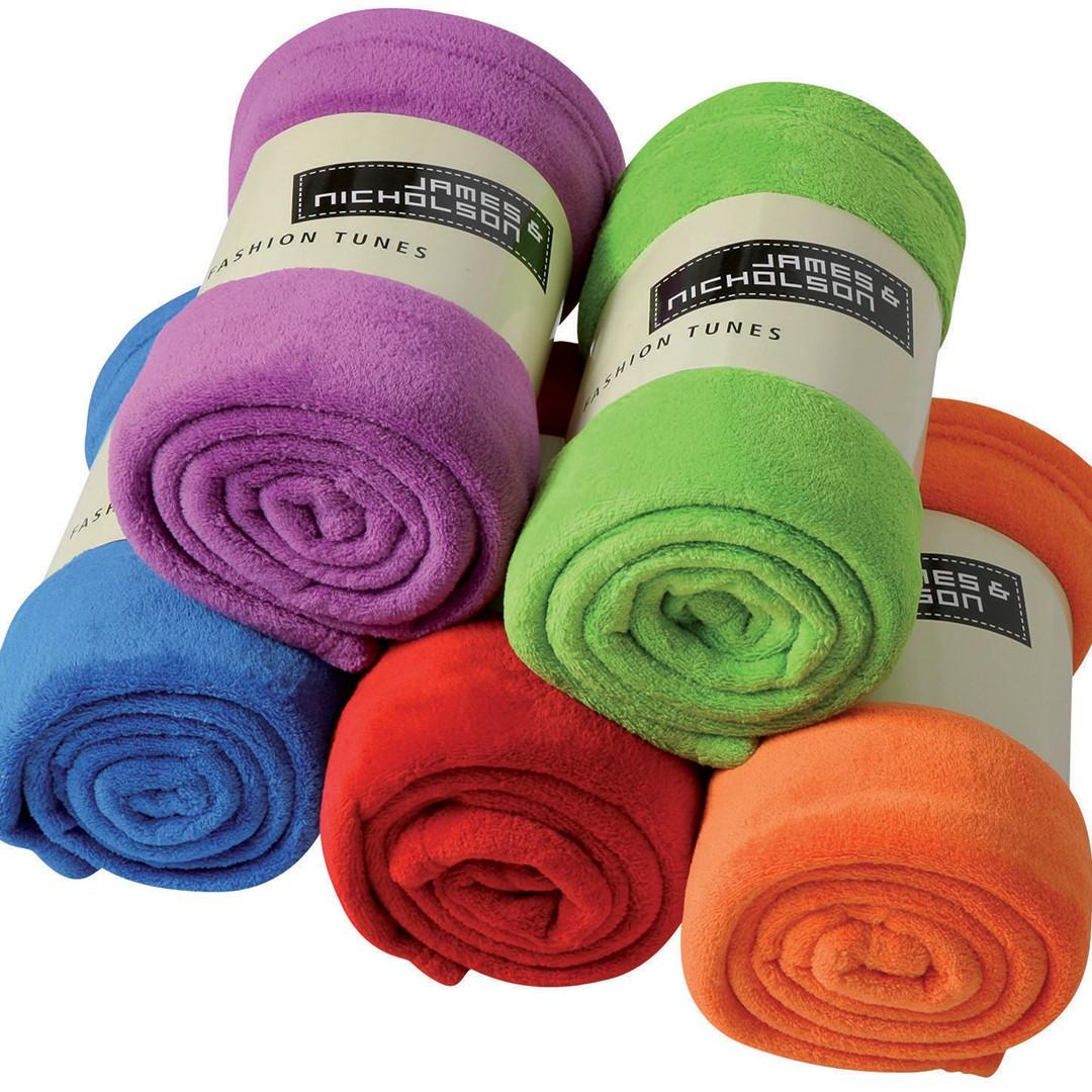 Microfibre Fleece Blanket James & Nicholson® | bedrucken, besticken, bedrucken lassen, besticken lassen, mit Logo |
