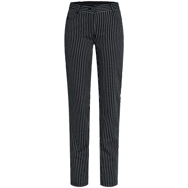 Women's Basic Five-Pocket Pants B/W Striped Greiff®