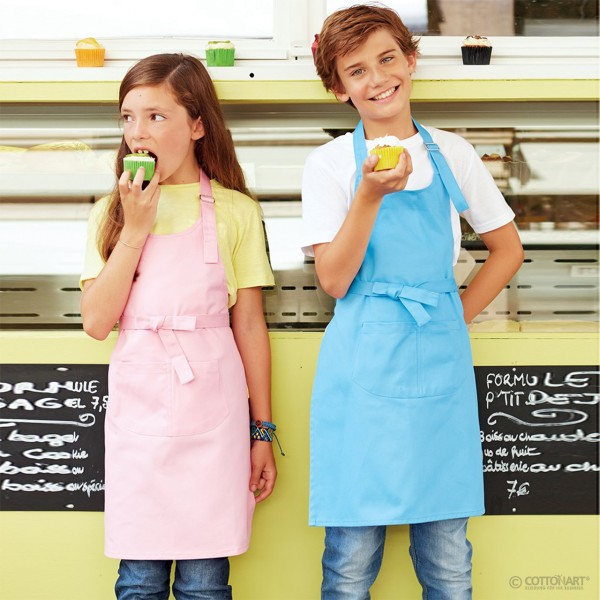 Children's apron with pocket in cotton Kariban®