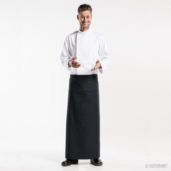 Bistro apron long 100 Santino Black Chaud Devant®
