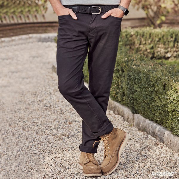 Men's stretch trousers with 5 pockets in cotton twill Clique®.