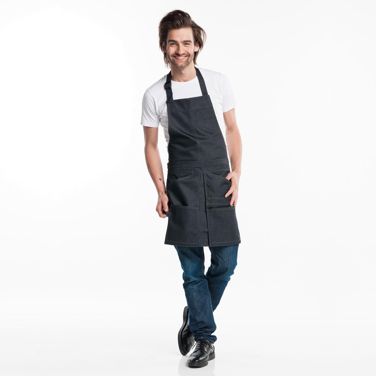 Jeans Latzschürze Bib Chap Chaud Devant® | bedrucken, besticken, bedrucken lassen, besticken lassen, mit Logo |