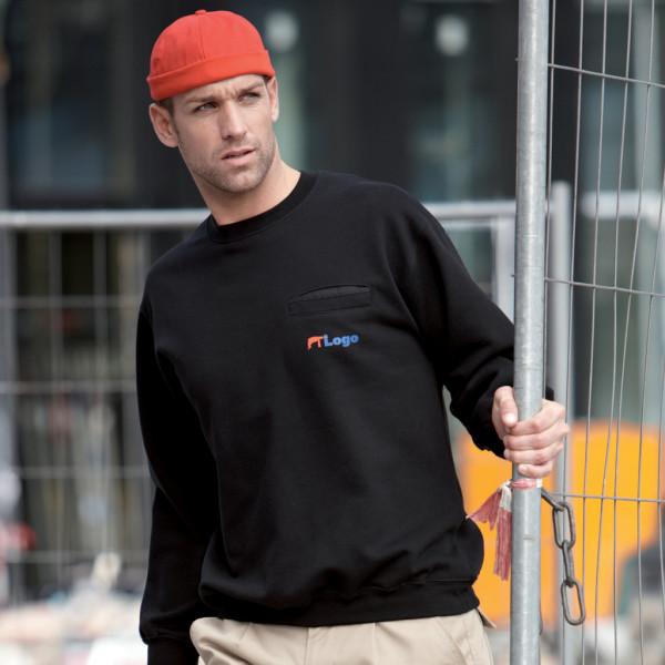Herren Sweatshirt mit Brusttasche James & Nicholson®