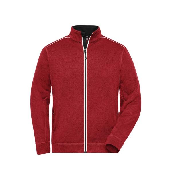 Herren Workwear Strickfleece-Jacke James & Nicholson®
