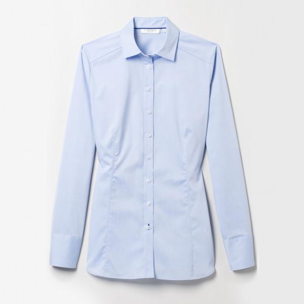 Langarm Bluse Slim Fit Stretch Eterna®