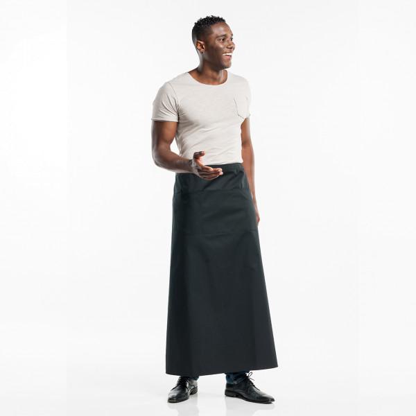 Bistroschürze Regular 3-Pockets W100-L100 Chaud Devant® Farbvariante Black personalisiert bedrucken lassen