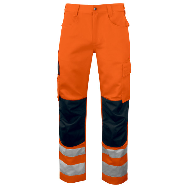 Warning protection Safety work trousers with pockets EN ISO 20471 class 2 Projob®.