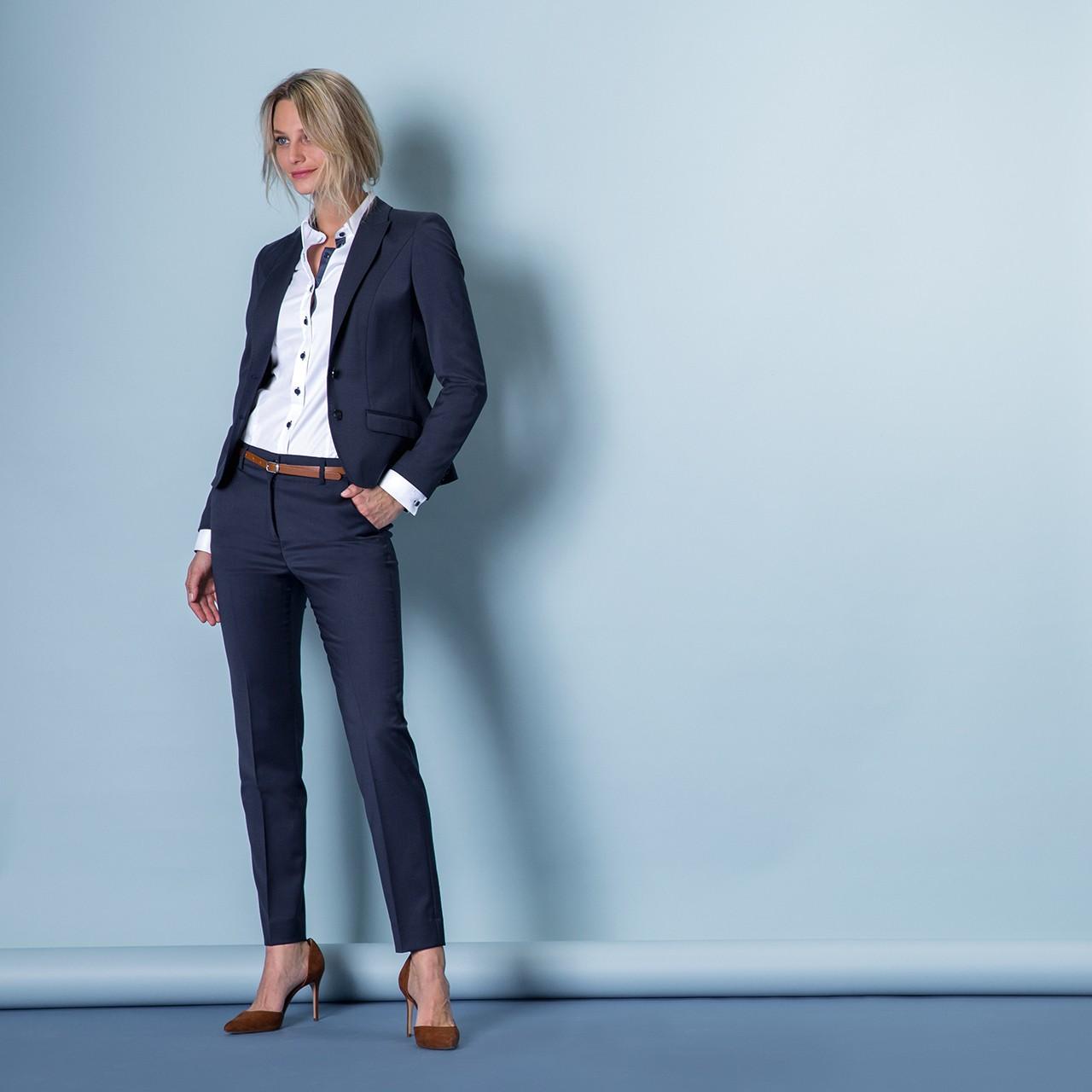 Damen Hose Hohe Leibhöhe Modern Slim Fit Greiff® | bedrucken, besticken, bedrucken lassen, besticken lassen, mit Logo |