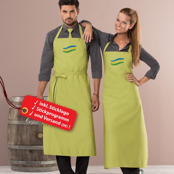 Premium bib apron embroidery incl. logo embroidery