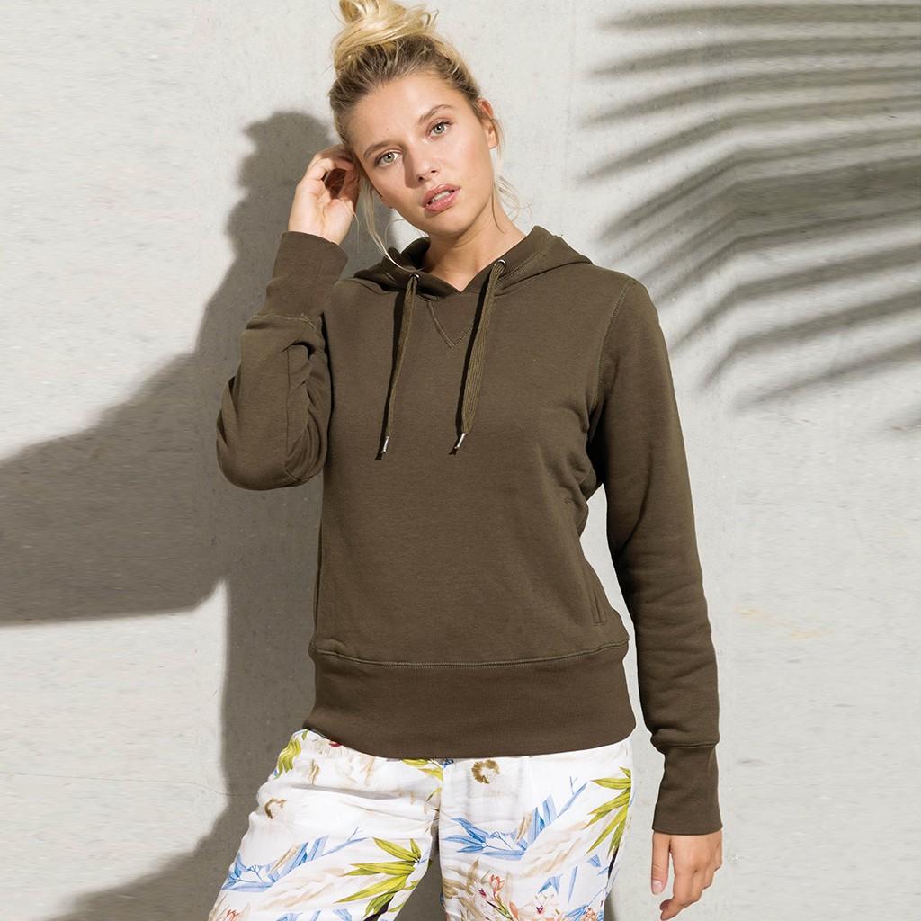 Damen Hoody aus Bio-Baumwolle | bedrucken, besticken, bedrucken lassen, besticken lassen, mit Logo |