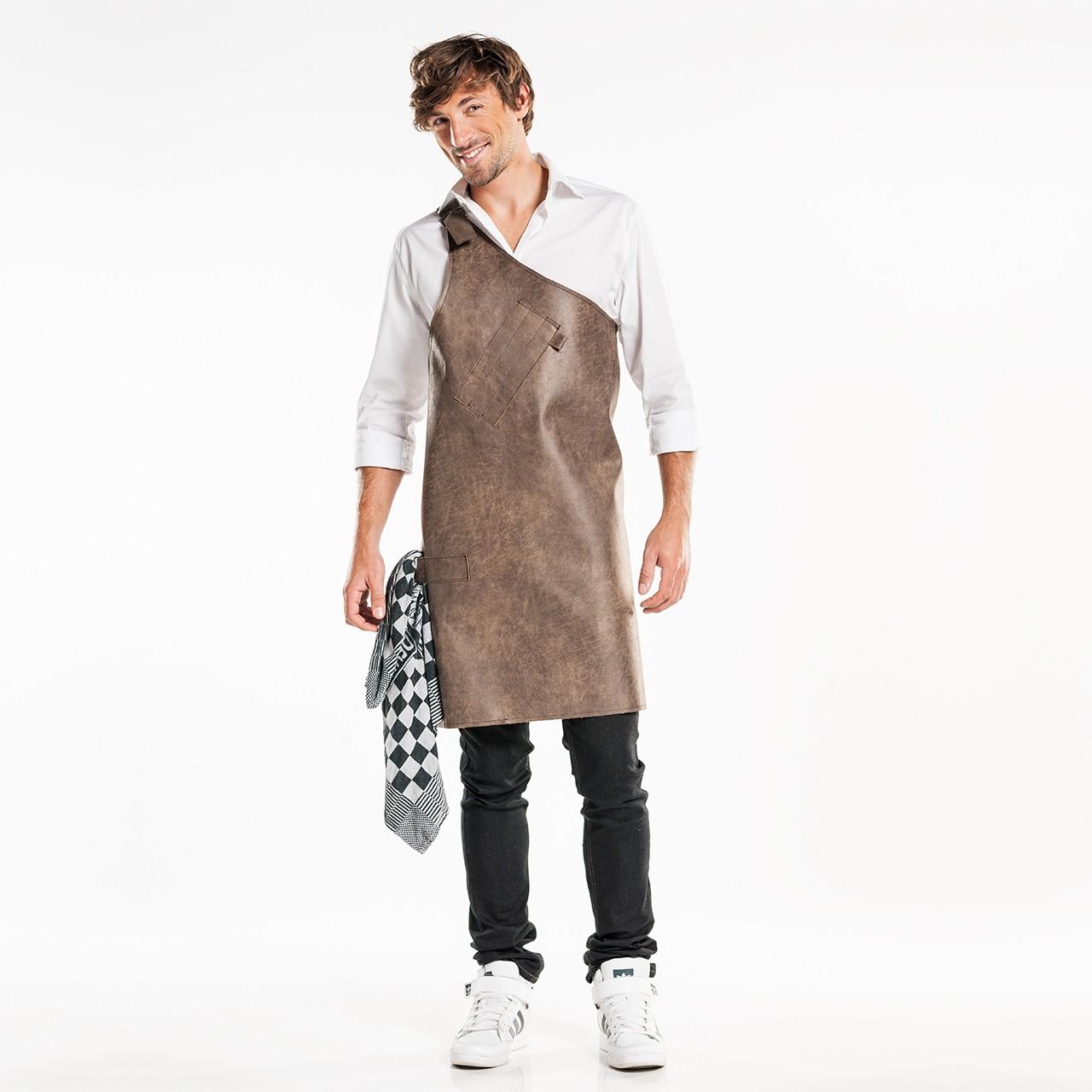 Leder Latzschürze Butcher Chaud Devant® | bedrucken, besticken, bedrucken lassen, besticken lassen, mit Logo |