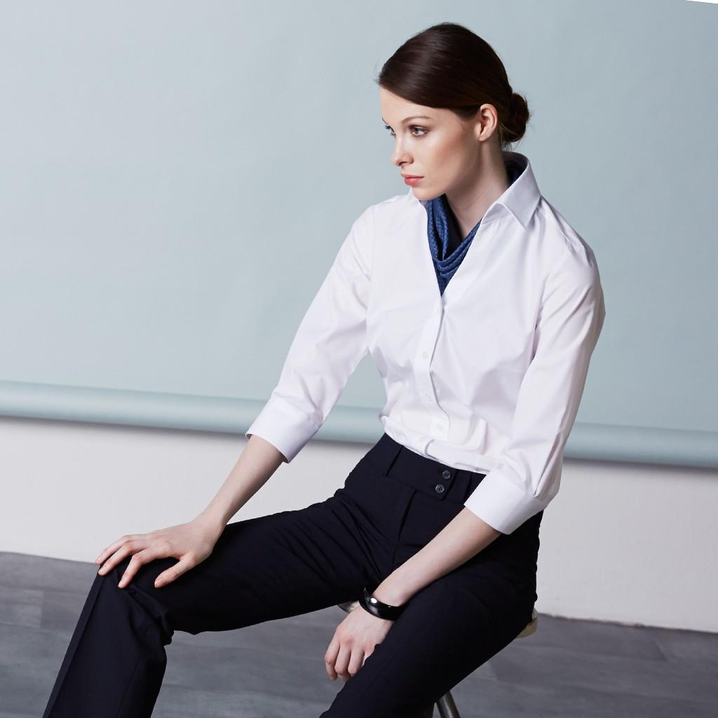 Bluse Bügelfrei ¾ Arm Regular Fit Greiff® | bedrucken, besticken, bedrucken lassen, besticken lassen, mit Logo |