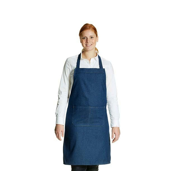 Denim jeans hobby apron with front pocket Link®