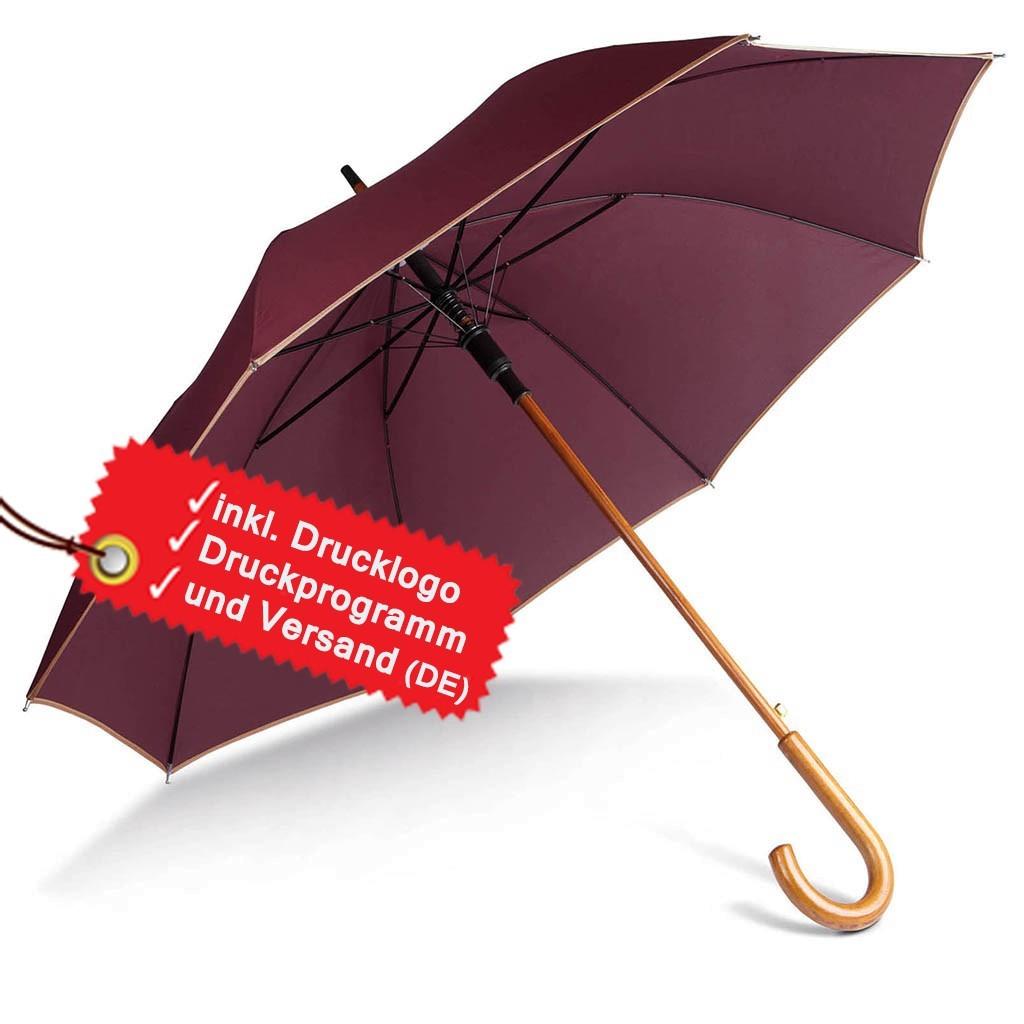 Holzstock Regenschirm bedrucken lassen inkl. Logo KiMood® | bedrucken, besticken, bedrucken lassen, besticken lassen, mit Logo |