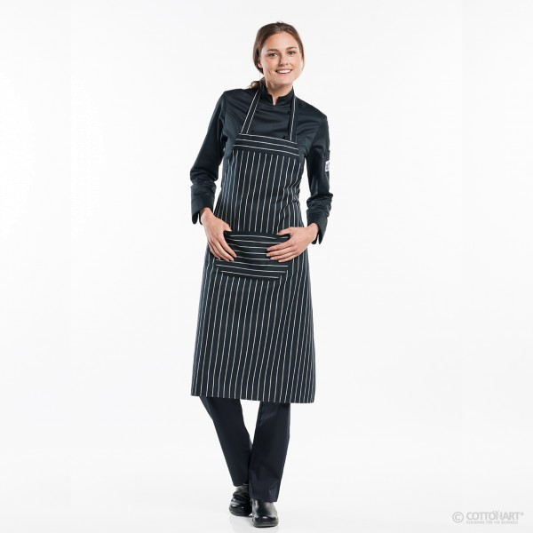 Latzschürze Regular mit Tasche Big Stripe Chaud Devant®