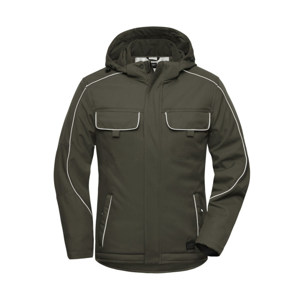 Workwear Softshell jacket with inner lining James & Nicholson®.