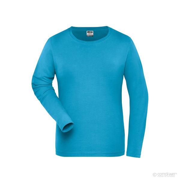 Bio-Langarm Damen-Shirt James & Nicholson®