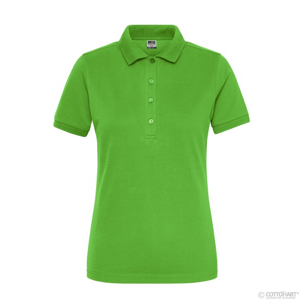 Ladies' stretch polo shirt made from organic cotton James & Nicholson®.