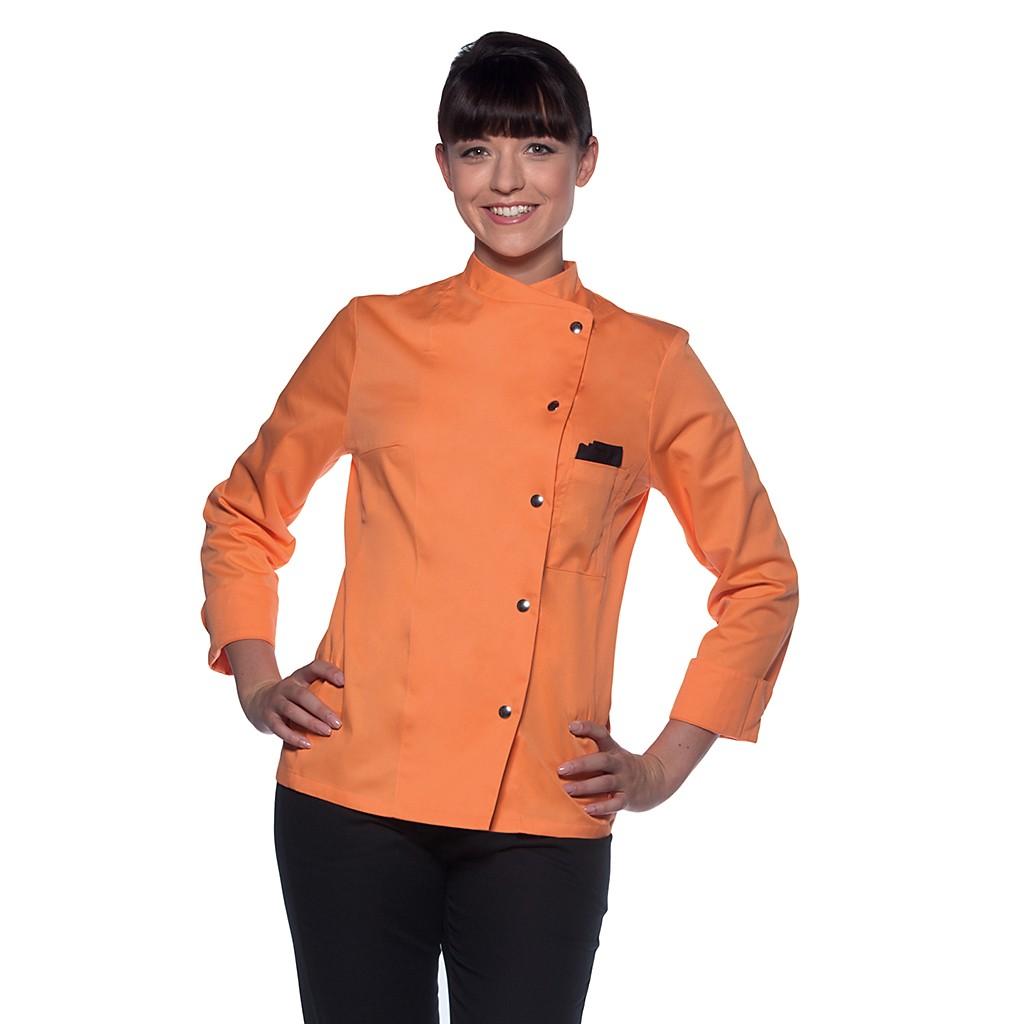 Damen Kochjacke Larissa mit Druckknöpfe Karlowsky® | bedrucken, besticken, bedrucken lassen, besticken lassen, mit Logo |
