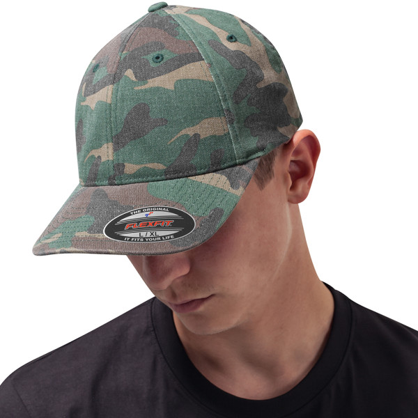 Flexfit Garmet Washed Camo Cap FLEXFIT®