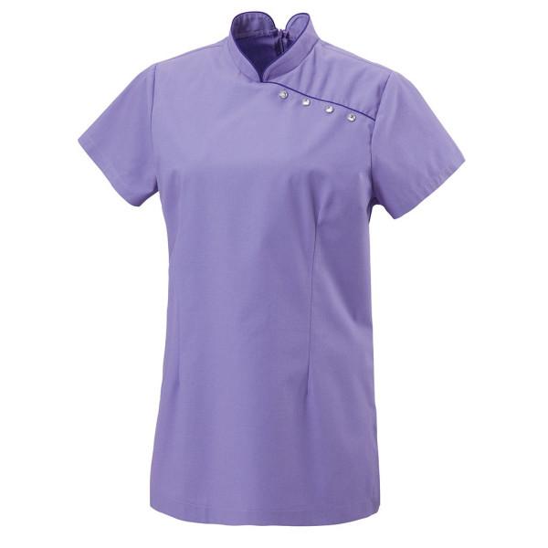 Tunikajacke mit Paspel Asia-Style purple besticken lassen