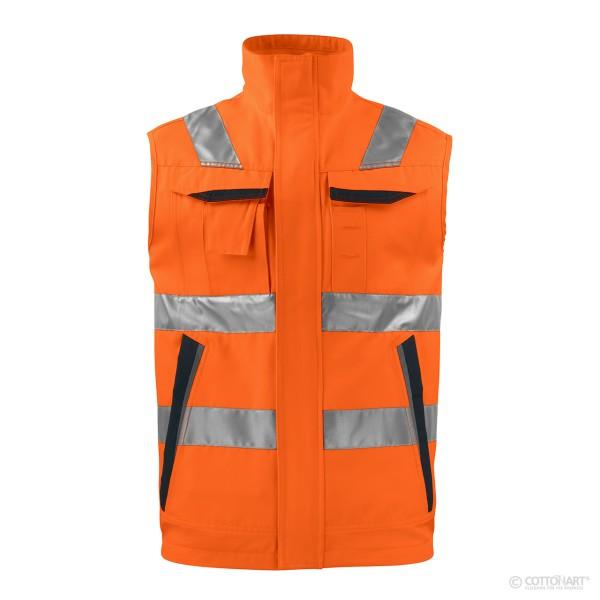 Warnschutz Sicherheitsweste fluoreszierend EN ISO 20471 Klasse 2 ProJob®