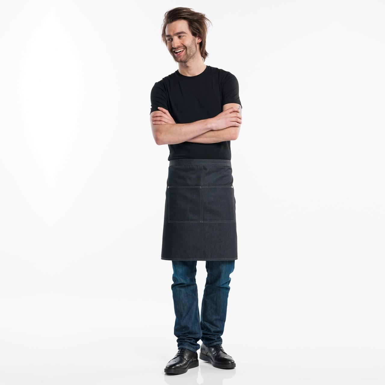 Jeans Kellnerschürze mit 2 Taschen Chaud Devant® | bedrucken, besticken, bedrucken lassen, besticken lassen, mit Logo |