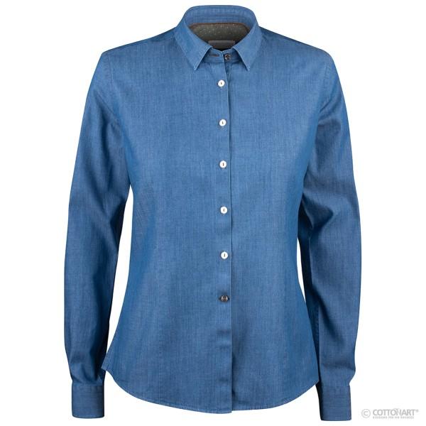 Light denim blouse Indigo Bow 130 J. Harvest & Frost®
